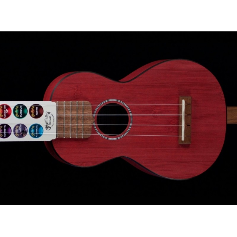 MARTIN OX BAMBOO LEFTY UKE RED